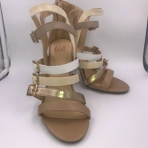 "Shoes - Strappy 4"" Stilleto heeled sandals sz 8.5"